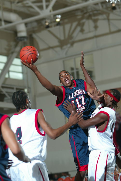Samardo Samuels at the Nike All American basketball camp in Indianapolis,Thursday, July 7, 2005. (Mandatory Credit: AJ Mast/Ronin Images)......***LOW RES FPO ONLY, HIGH RES AVLAIBLE OFFLINE***