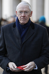 © Licensed to London News Pictures. 14/12/2017. London, UK. Sir Martin Moore-Bick, Chairman of the Grenfell Inquiry, arrives at St Paul's Cathedral in London for the Grenfell Tower National Memorial Service mark the six month anniversary of the Grenfell Tower fire. The service is attended by survivors and relatives of those who lost their lives in the fire, as well as members of the emergency services and members of the Royal family. 71 people were killed when a huge fire ripped though 24-storey Grenfell Tower block in west London in June 2017. Photo credit: Peter Macdiarmid/LNP