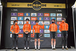 Rally Cycling at the 2020 Ronde van Vlaanderen - Elite Women, a 135.6 km road race starting and finishing in Oudenaarde, Belgium on October 18, 2020. Photo by Sean Robinson/velofocus.com