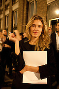SARA BRAJOVIC, 30 Years Of i-D - book launch. Q Book 5-8 Lower John Street, London . 4 November 2010. -DO NOT ARCHIVE-© Copyright Photograph by Dafydd Jones. 248 Clapham Rd. London SW9 0PZ. Tel 0207 820 0771. www.dafjones.com.