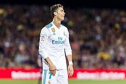 May 6, 2018 - Barcelona, Catalonia, Spain - Real Madrid forward Cristiano Ronaldo (7) during the match between FC Barcelona v Real Madrid, for the round 36 of the Liga Santander, played at Camp nou  on 6th May 2018 in Barcelona, Spain. (Credit Image: © Urbanandsport/NurPhoto via ZUMA Press)