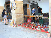 Sunday street market in town centre of Carceres, Extremadura, Spain