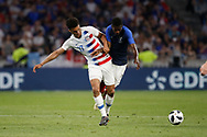 Ousmane Dembele of France and Antonee Robinson of USA during the 2018 Friendly Game football match between France and USA on June 9, 2018 at Groupama stadium in Decines-Charpieu near Lyon, France - Photo Romain Biard / Isports / ProSportsImages / DPPI