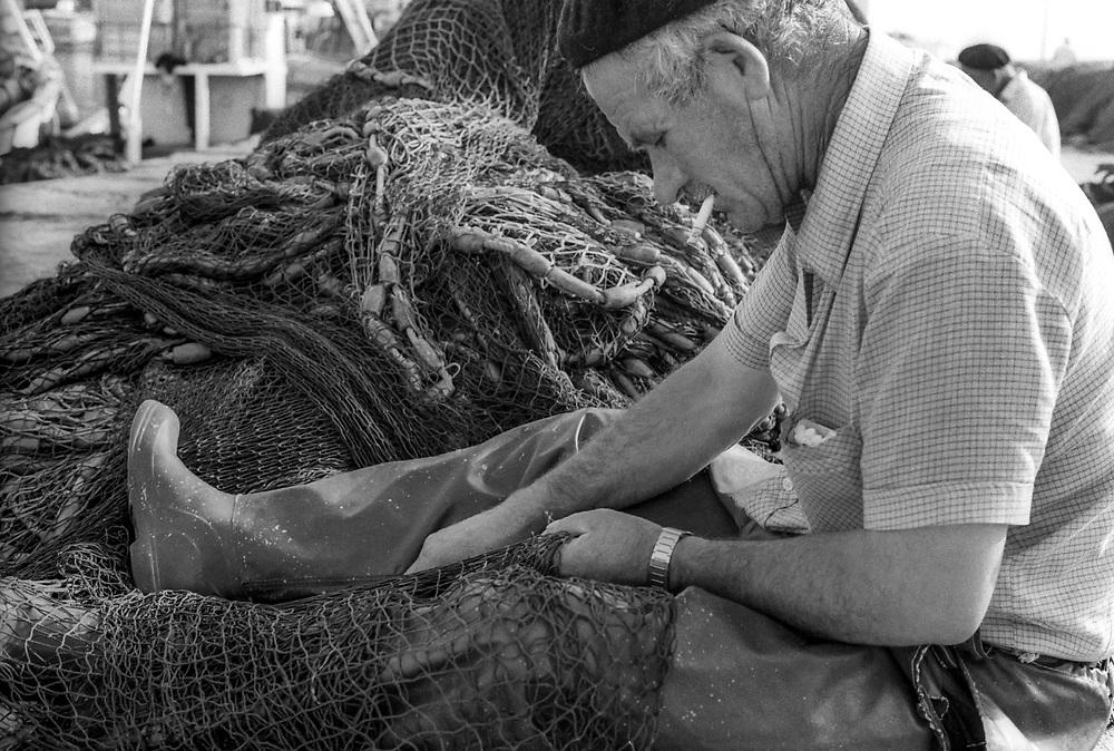 Fishing, Estepona,  Costa del Sol, southern Spain 1986