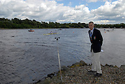 Motherwell, SCOTLAND. Sun A  Finals,  FISA Mike TANNER, checks out the wind, Events Commission chairman.  2007 FISA U23 World Championship Regatta, Strathclyde Country Park, North Lanarkshire 29/07/2007 [Mandatory credit Peter Spurrier/ Intersport Images]
