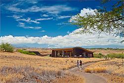 visitor center, Puukohola Heiau National Historic Site, Kawaihae, Kohala, Big Island, Hawaii, USA, Model Released - MR#: 000102, 000103
