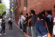 """High school students from University of San Francisco's Upward Bound program visit Chinatown's """"secret"""" alleys. Students learn about the history of Chinatown and Chinese Americans."""