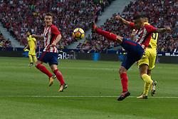 October 28, 2017 - Madrid, Spain - Gameiro (L) and Correa (R)..Draw at 1 in Wanda Metropolitano stadium. (Credit Image: © Jorge Gonzalez/Pacific Press via ZUMA Wire)