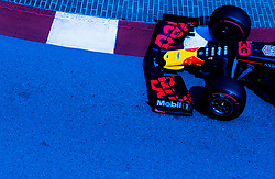May 25, 2019 - Montecarlo, Monaco - Max Verstappen of Netherland and Red Bull Racing driver goes during the qualification session at Formula 1 Grand Prix de Monaco on May 25, 2019 in Monte Carlo, Monaco. (Credit Image: © Robert Szaniszlo/NurPhoto via ZUMA Press)