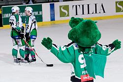 HDD Tilia Olimpija mascot Hoki during ice-hockey match between HDD Tilia Olimpija and EHC Liwest Black Wings Linz in 19th Round of EBEL league, on November 7, 2010 at Hala Tivoli, Ljubljana, Slovenia. (Photo By Matic Klansek Velej / Sportida.com)