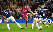 Raheem Sterling of Manchester City ©  takes a shot at goal .Carabao Cup 3rd round match, West Bromwich Albion v Manchester City at the Hawthorns stadium in West Bromwich, Midlands on Wednesday 20th September 2017. pic by Bradley Collyer, Andrew Orchard sports photography.