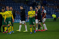 Football - 2019 / 2020 Emirates FA Cup - Fourth Round: Burnley vs. Norwich City<br /> <br /> Teemu Pukki applauds the travelling Norwich City the Norwich City fans at the end of the game, at Turf Moor.<br /> <br /> COLORSPORT/ALAN MARTIN