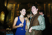 William Aitken and Petrina Khashoggi. Wong party. Old  Royal Naval College, Greenwich. 3/2/01. © Copyright Photograph by Dafydd Jones 66 Stockwell Park Rd. London SW9 0DA Tel 020 7733 0108 www.dafjones.com