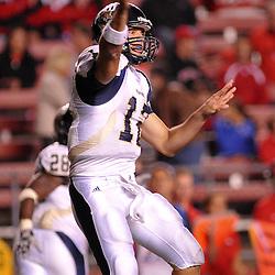 Sep 19, 2009; Piscataway, NJ, USA; Florida International quarterback Paul McCall (12) makes a pass during the second half of Rutgers' 23-15 victory over Florida International at Rutgers Stadium.