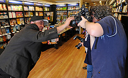 """Johnny Vegas attends a Booksigning.""""Being Johnny Vegas"""", at Waterstones Bluewater Shopping Centre, Kent, United kingdom, Tuesday, 15th October 2013. Picture by i-Images."""