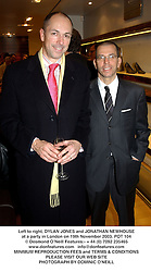 Left to right, DYLAN JONES and JONATHAN NEWHOUSE at a party in London on 19th November 2003.POT 104