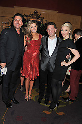 Left to right, GIORGIO VERONI, HOLLY VALANCE, NICK CANDY and TAMARA BECKWITH at the 39th birthday party for Nick Candy in association with Ciroc Vodka held at 5 Cavindish Square, London on 21st Januatu 2012.