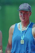 Lucerne, Switzerland. 1995 FISA WC III, Lake Rottsee, Lucerne,<br /> SWE W1X Maria BRANDIN.<br /> [Mandatory Credit. Peter SPURRIER/Intersport Images]<br /> <br /> Image scanned from Colour Negative