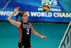 01-10-2014 ITA: World Championship Volleyball Servie - Nederland, Verona<br /> Nederland verliest met 3-0 van Servie en is kansloos voor plaatsing final 6 / Yvon Beliën