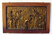 Relief of 'Pope Liberius Baptizing the Neophytes' by Alessandro Algardi. circa 1645-1648. Bronze.