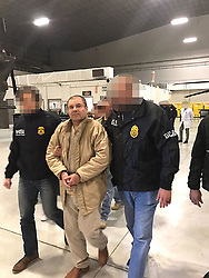January 19, 2017 - Ciudad Juarez, Chihuahua, MEXICO - Joaquin Guzman Loera, the drug lord and chieftain of the Sinaloa cartel known as El Chapo, was extradited to the United States on Thursday January 19, 2017 and flown from a jail in Ciudad Juarez, Mexico to Long Island MacArthur Airport in Islip, New York to face numerous charges. PGR/PRENSA INTERNATIONAL (Credit Image: © Prensa Internacional via ZUMA Wire)