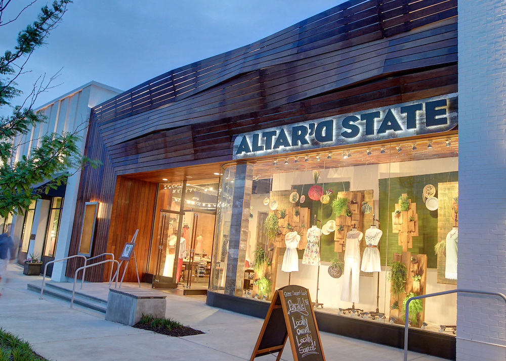 Altar'd State retail clothing store located in the Shops at Stonefield in Charlottesville, VA. Photo/Andrew Shurtleff