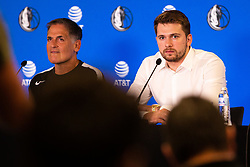 Luka Doncic during Dallas Mavericks Press Conference to formalise the deal with Luka Doncic, 10 August, 2021, Intercontinental Hotel, Ljubljana, Slovenia. Photo by Grega Valancic