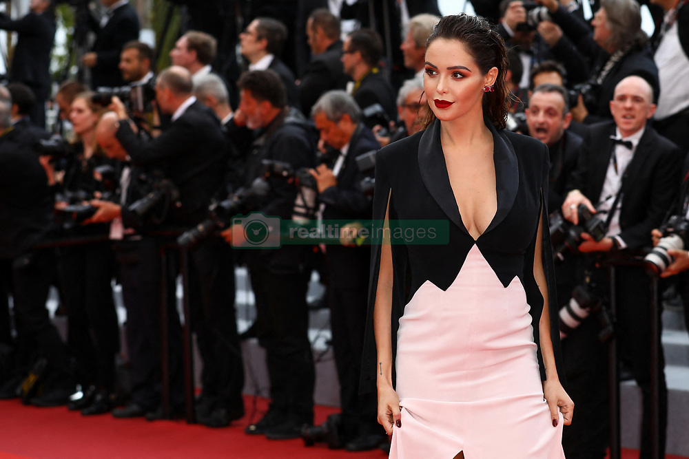 """A pregnant Nabilla Benattia attend the screening of """"A Hidden Life (Une Vie Cachée)"""" during the 72nd annual Cannes Film Festival on May 19, 2019 in Cannes, France. Photo by Shootpix/ABACAPRESS.COM"""