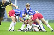 Shepards Bush, West London, UK., 30.09.2001, Diego Dominguez, London Wasps vs Stade Francais, Loftus Road Stadium,<br /> Heineken European Rugby Cup,<br /> [Mandatory Credit: Peter Spurrier/Intersport Images],
