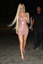 Kylie Jenner Wears Pink Leather After Leaving Her Pop Up Adiddas Party. 06 Sep 2018 Pictured: Kylie Jenner. Photo credit: MEGA TheMegaAgency.com +1 888 505 6342