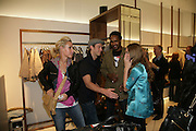 CHARLOTTE NOBLE, SEAN BROSNAN , TIM WADE AND ANOUSKHA BECKWITH.  Gas new concept Flagship store opening. Duke of York Sq. London. 9 May 2007.  -DO NOT ARCHIVE-© Copyright Photograph by Dafydd Jones. 248 Clapham Rd. London SW9 0PZ. Tel 0207 820 0771. www.dafjones.com.