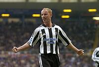 Fotball<br /> Premier League 2004/05<br /> Birmingham v Newcastle<br /> 3. oktober 2004<br /> Foto: Digitalsport<br /> NORWAY ONLY<br /> Newcastle's Nicky Butt celebrates scoring his side's equaliser