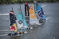 Image licensed to Lloyd Images<br /> The Extreme Sailing Series 2015. Act4 - Cardiff.UK<br /> ESS Fleet in Cardiff Bay<br /> Credit: Lloyd Images