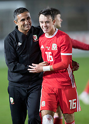 NEWPORT, WALES - Tuesday, October 16, 2018: Wales' Robbie Burton after the UEFA Under-21 Championship Italy 2019 Qualifying Group B match between Wales and Switzerland at Rodney Parade. (Pic by Laura Malkin/Propaganda)