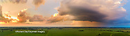 63891-03202 Aerial view of thunderstorm clouds at sunset Marion Co. IL