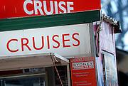 Sign advertising harbour cruises. Circular Quay, Sydney, Australia
