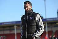 Ollie Palmer arrives before the EFL Sky Bet League 2 match between Walsall and Crawley Town at the Banks's Stadium, Walsall, England on 18 January 2020.