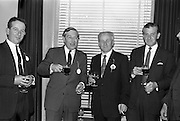 28/04/1964<br /> 04/28/1964<br /> 28 April 1964<br /> Watney Sales Conference at the Shelbourne Hotel, Dublin. At the conference were (l-r):  ?; Mr. S.P. Woodhead;  Mr. J. McManus and ?
