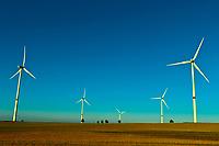 Wind turbines near Leipzig, Saxony, Germany