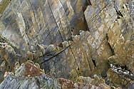 Rocks with colored structures, Asturias, Spain<br /> <br /> Felsen mit farbigen Strukturen, Asturien, Spanien