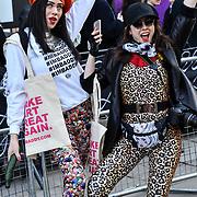 Street style - LFW AW20 Day 1 at Strand, London, UK. 14 Feb 2020