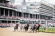 May 3, 2019: 145th Kentucky Oaks at Churchill Downs. Racing action at Churchill Downs