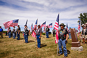 29 AUGUST 2020 - RUNNELLS, IOWA: Members of the Patriot Guard Riders in formation at the funeral for Pvt. Roy Brown Jr. in Runnells, IA. Pvt. Brown was a US Army soldier in World War II. He was an infantryman in the 126th Infantry Regiment, 32nd Infantry Division, serving in the Australian Territory of Papua (now Papua New Guinea). He went missing in action on Dec. 2, 1942. Unidentified remains were recovered on Feb. 2, 1943 and were eventually interred in the Manila American Cemetery. On May 14, 2019, Defense POW/MIA Accounting Agency using dental records, circumstantial evidence and DNA identified the remains as Pvt. Brown's. He was reinterred in the Lowman Cemetery in Runnells Saturday.      PHOTO BY JACK KURTZ      PHOTO BY JACK KURTZ