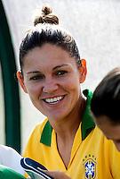 Fifa Womans World Cup Canada 2015 - Preview //<br /> Algarve Cup 2015 Tournament ( Municipal Stadium - Albufeira , Portugal ) - <br /> Brazil vs China 0-0 -  Gabi Zanotti of Brazil