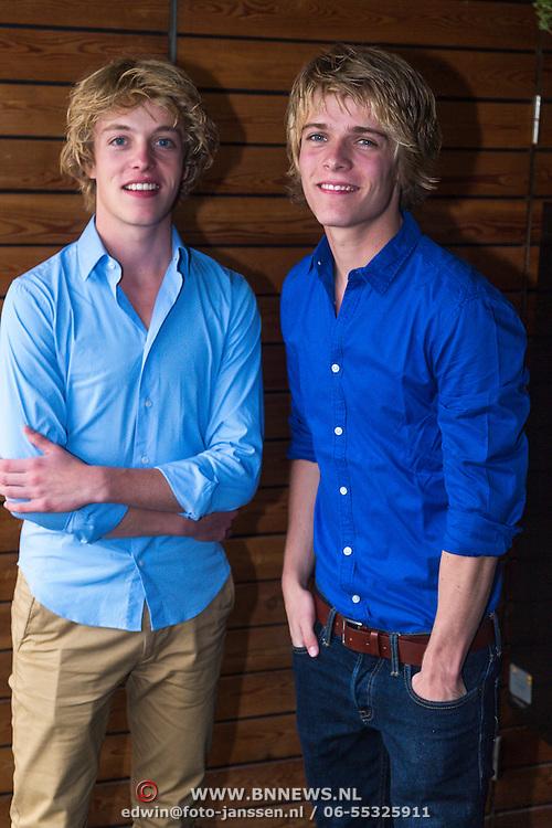 NLD/Amsterdam/20130913 - Broers Arthur en Lucas Jussen tijdens de presentatie van hun documentaire Jeux gemaakt door Gijs en Leonaard Besseling