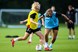 Katie Robinson and Abi Harrison of Bristol City Women during training at Failand - Mandatory by-line: Robbie Stephenson/JMP - 26/09/2019 - FOOTBALL - Failand Training Ground - Bristol, England - Bristol City Women Training