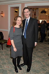JACOB REES-MOGG MP and his wife HELENA at the Oldie Magazine's Oldie of The Year Awards held at Simpson's In The Strand, London on 4th February 2014.