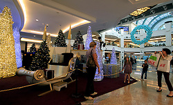 Dubai mall all decked out for Christmas, Dubai, UAE, December 18, 2012. Photo by Silvia Baron / i-Images.