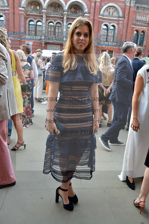 Princess Beatrice Of York at the V&A Summer Party 2017 held at the Victoria & Albert Museum, London England. 21 June 2017.<br /> Photo by Dominic O'Neill/SilverHub 0203 174 1069 sales@silverhubmedia.com