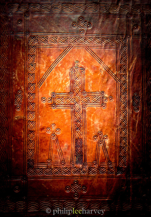Over from a book of scriptures, Yeha Temple Museum. Tigray Region. Ethiopia, Horn of Africa